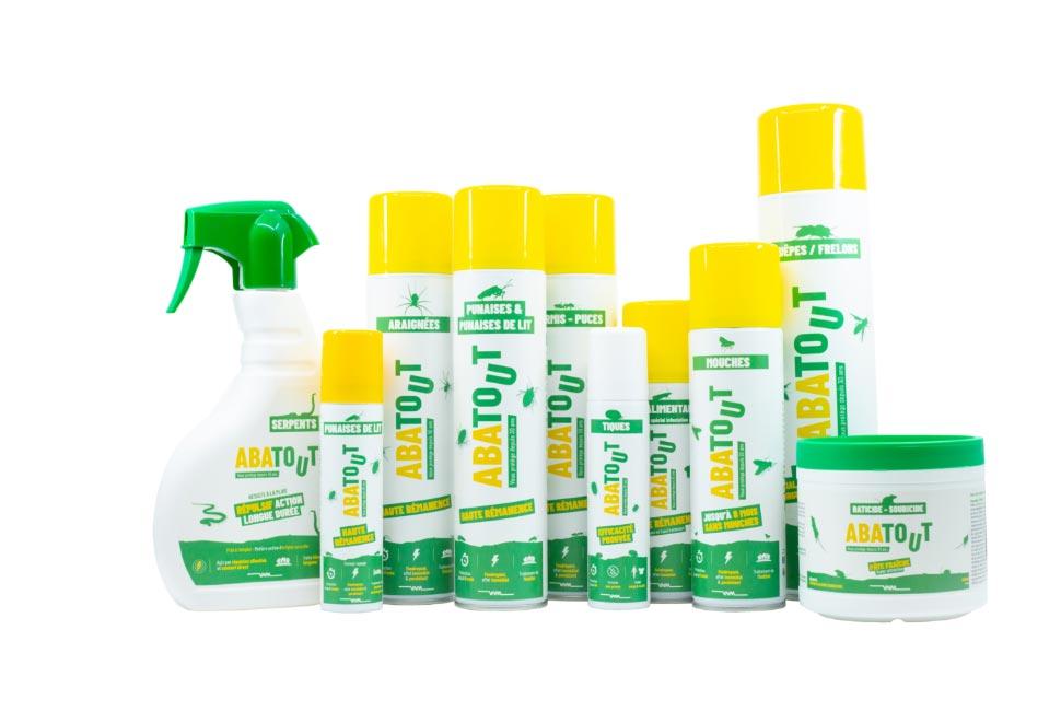 Ensemble de la gamme des produits Abatout