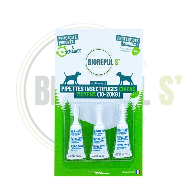 Pipettes insectifuges chiens moyen
