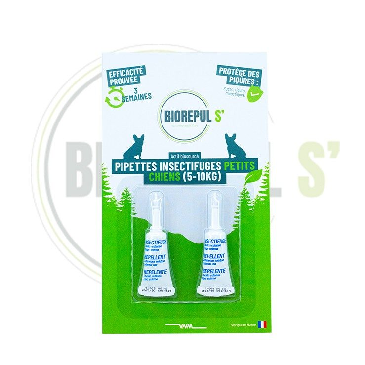 Pipettes insectifuges petits chiens