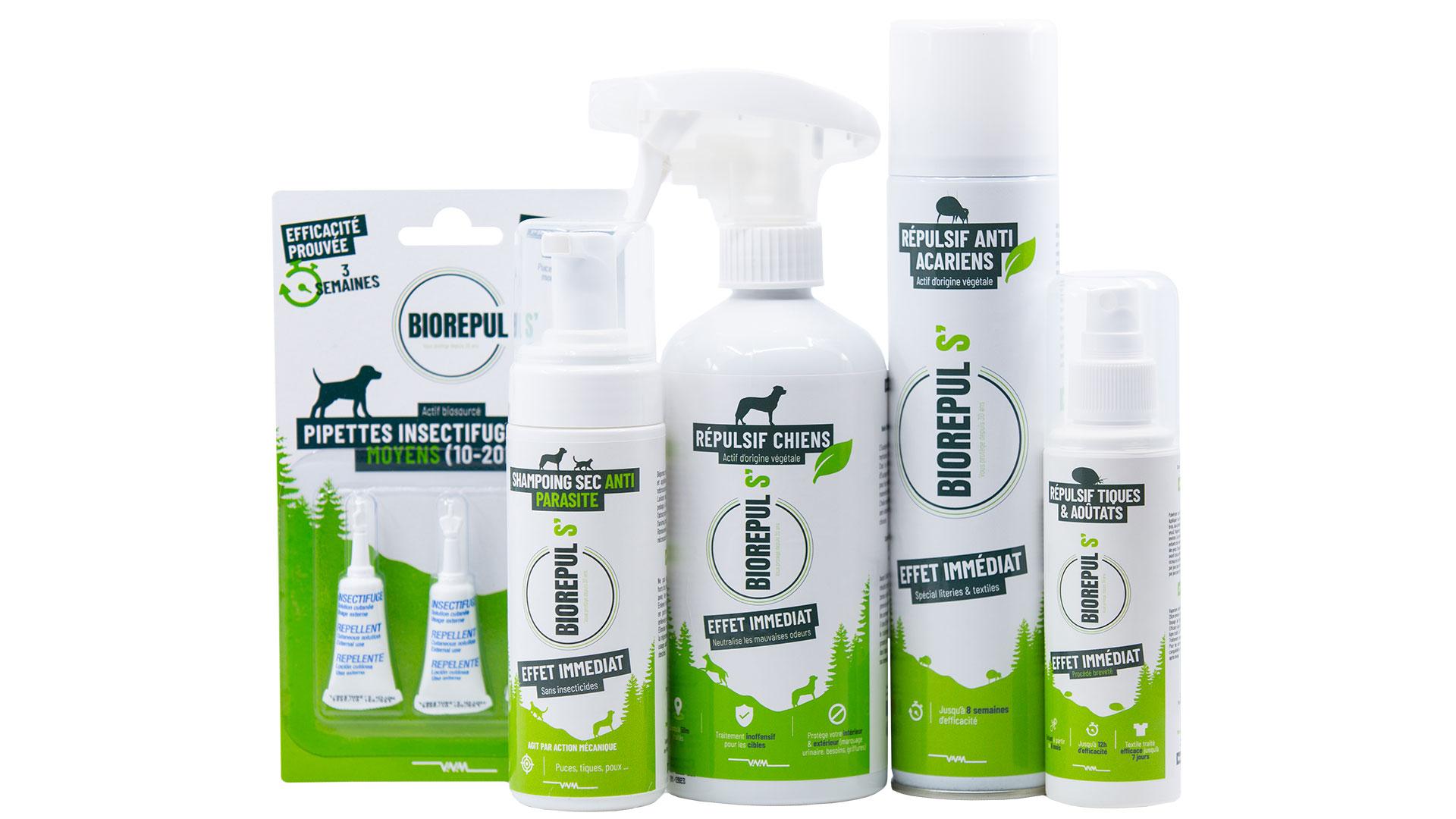 La gamme de produits à base d'actifs biosourcés Biorepul's